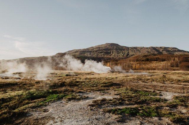 hot water spring image