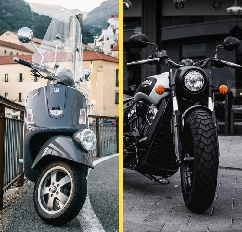 Motorcycle vs. Scooter
