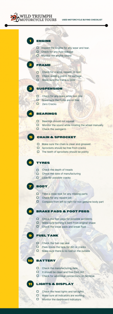 Used Motorcycle Buyer Checklist