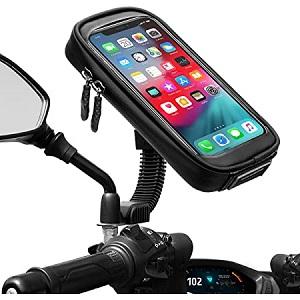 Waccet water proof motorcycle phone mount