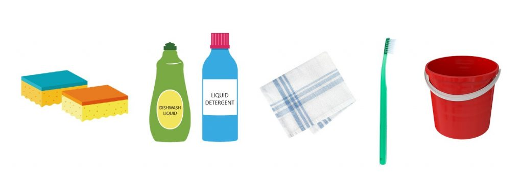 Household products to wash your motorcycle
